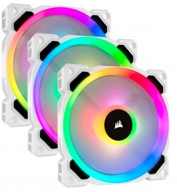 LL120 RGB blanc - pack de 3
