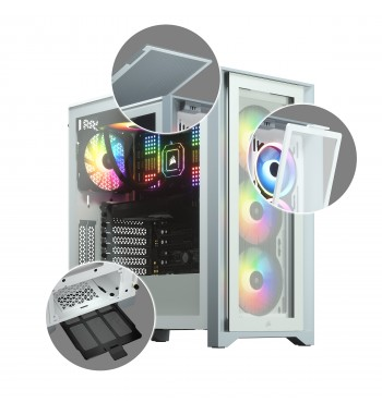 iCUE 4000X RGB - blanc
