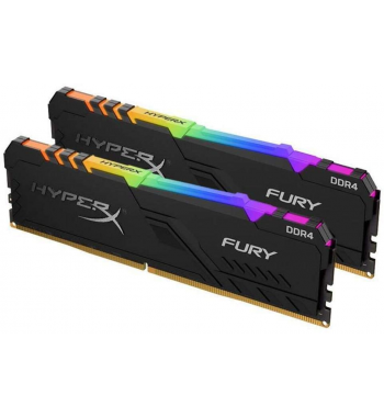 Fury RGB 2x32Go 3600MHz, noire, RGB