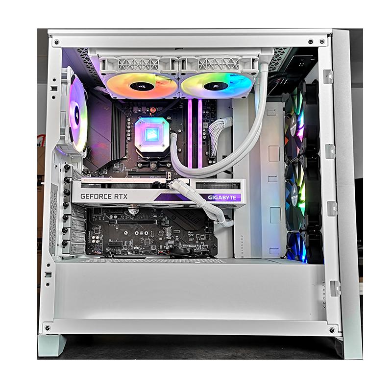 Un PC basé sur l'écosystème Corsair iCUE