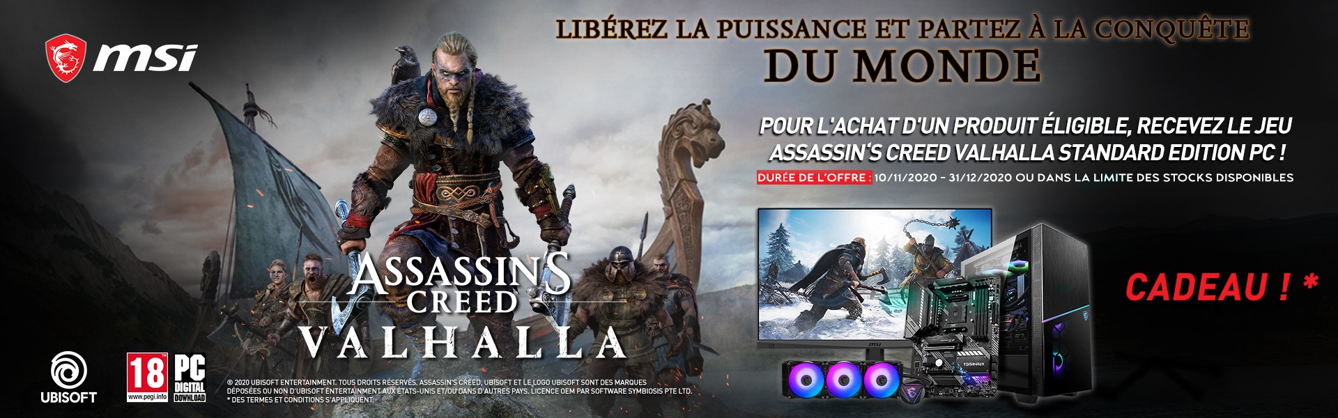 Offre MSI Assassin's Creed Valhalla